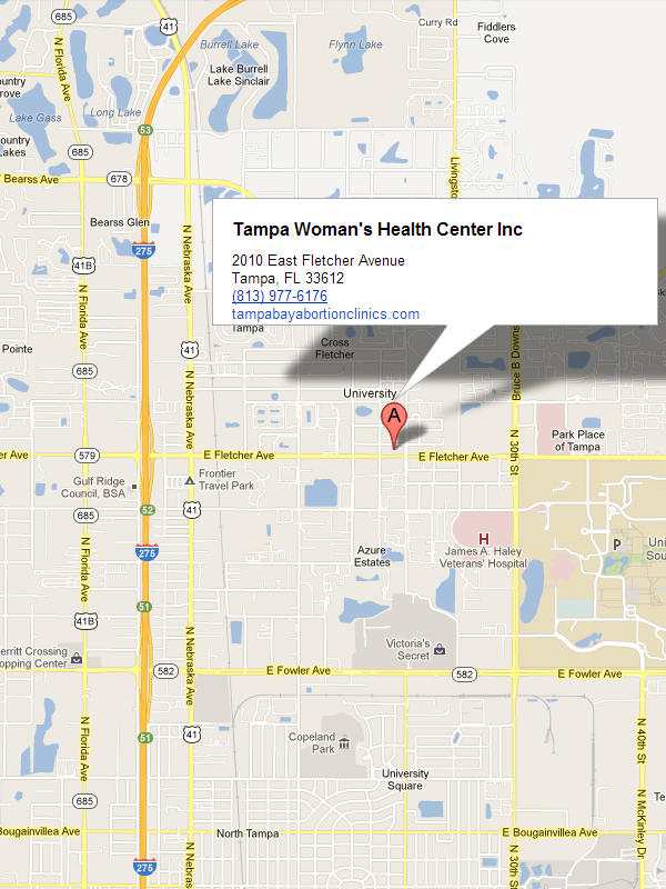 Map Of Tampa Florida.Woman S Health Centers Locations